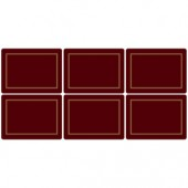 Classic 6 Classic Burgundy Medium Placemats (15365)