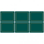 Classic 6 Classic Emerald Green Medium Placemats (15367)