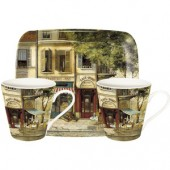 Pimpernel Parisian Scenes 2 Mugs and Tray Set (15419)