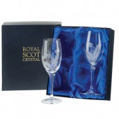 Flower of Scotland Set of 2 Large Wine Glasses (15610)