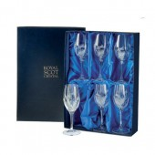 Flower of Scotland Box of 6 Small Wine Glasses (15611)