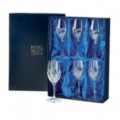 Flower of Scotland Box of 6 Large Wine Glasses (15612)