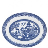 Blue Willow 31cm Oval Meat Serving Dish (15754)
