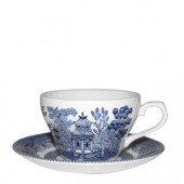 Blue Willow Teacup and Saucer (15761)