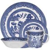 Blue Willow 4 Piece Dinner Set (15767)