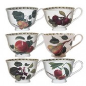Hookers Fruit Set of 6 Teacup and Saucers (15787)