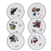 Hookers Fruit Set of 6 Rimmed Soup Bowls (15788)