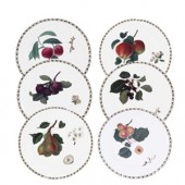 Hookers Fruit Set of 6 Dessert Starter Plates (15791)