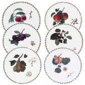 Hookers Fruit Set of 6 Dinner Main Plates (15792)