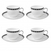 Aynsley China Set of 4 Teacups and Saucers (15806)