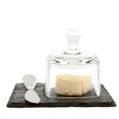 Just Slate Company Mini Butter Dish and Knife (16119)