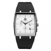 Mens Watches Mens Stainless Steel Watch with Leather Strap (16278)