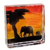 Caithness Glass Safari Large Elephant Sandcast (16326)