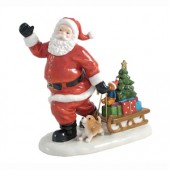 Aynsley China Santa with Puppy (16391)