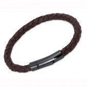 Unique Jewellery Dark Brown Leather Bracelet (16414)