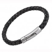 Unique Jewellery Antique Black Leather Bracelet (16416)