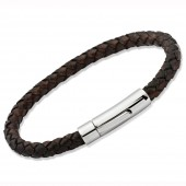 Unique Jewellery Dark Brown Leather Bracelet (16419)