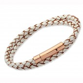 Leathers Pearl Leather Bracelet (16427)