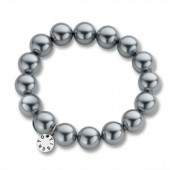 Grey Pearl Elasticated Bead Bracelet (16753)