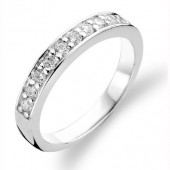 Ring Collection Sterling Silver CZ Set Ring (16762)