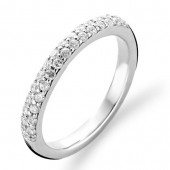 Sterling Silver CZ Set Thin Band Ring (16822)