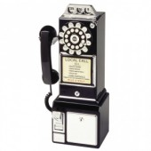 Wild and Wolf 1950's Black Diner Phone (17090)
