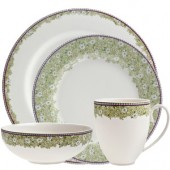Monsoon by Denby Daisy Green 16 Piece Dinner Set (17836)