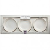 Monsoon by Denby Lucille Gold Set 3 Dipping Bowls (17857)