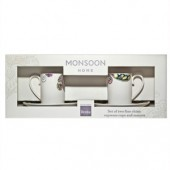 Monsoon by Denby Cosmic Set 2 Coffee Cups and Saucers (17864)