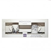 Monsoon by Denby Chrysanthemum Set of 2 Coffee Cups and Saucers (17869)