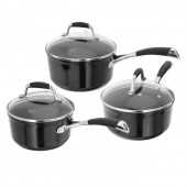 Stellar 3000 Black 3 Piece Saucepan Set (18189)