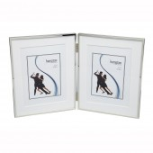 Hampton Photoframes 4 x 6 Double Hinged Silver Plated Photoframe (18238)