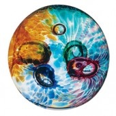 Caithness Glass Abstract Aura Paperweight (1826)