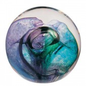 Caithness Glass Mooncrystal Green Paperweight (1841)