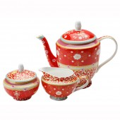 Maxwell & Williams Veronique Red Tea Set (18484)