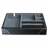 Heritage Black Leather Valet Tray (18750)