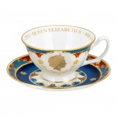 Royal Worcester Teacup and Saucer (18810)