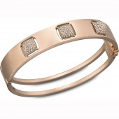 Swarovski Rose Gold Plated Tactic Bangle (18840)
