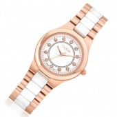 Clogau Gold 9ct Rose Gold, Silver and Stainless Steel Ladies Watch (19101)