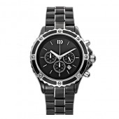 Danish Design Mens Stainless Steel and  Black Ceramic Watch (19258)