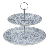 Churchill & Queens China 2 Tier Cake Stand (19343)