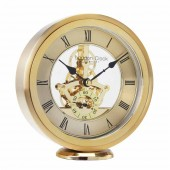London Clock Company Brass Round Skeleton Carriage Clock (19668)