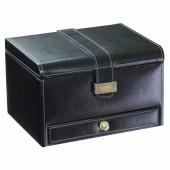 Dulwich Designs Heritage Black 3 Piece Watch and Cufflink Box (19678)