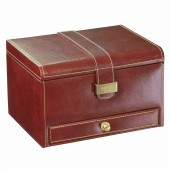 Dulwich Designs Heritage Chesnut 3 Piece Watch and Cufflink Box (19679)