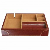 Heritage Chesnut Leather Valet Tray (19680)