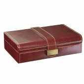 Dulwich Designs Heritage Chesnut Leather Cufflink Box (19681)