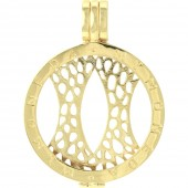 Silver and Gold Plated Interchangable Pendant Medium (19710)