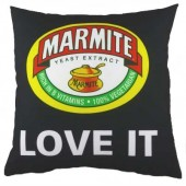Evans Lichfield Marmite Double Sided Cushions (19879)