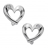 Luxury Entwine Heart Earrings (19907)