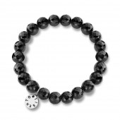 Oynx Black Elasticated Bracelet (20011)